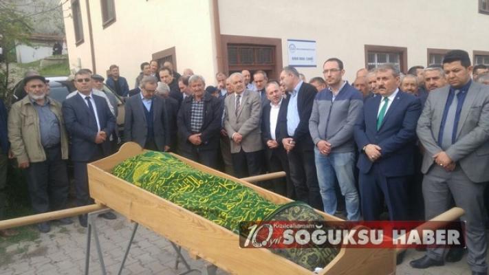 BBP GENEL BAŞKANI MUSTAFA DESTİCİ KIZILCAHAMAM'DA CENAZEYE KATILDI