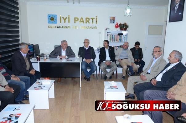 CHP VE SAADET PARTİSİNDEN İYİ PARTİYE ZİYARET...