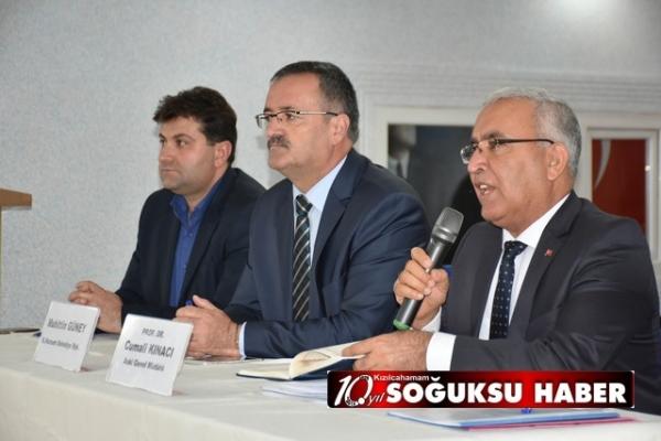 ASKİ, KIZILCAHAMAM'DA TOPLANTI YAPTI