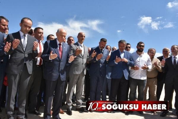 DEVLET BAHÇELİ KIZILCAHAMAM'I ZİYARET ETTİ.