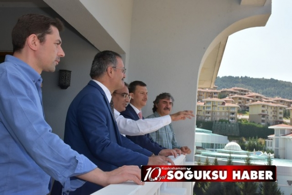 AK PARTİ KIZILCAHAMAM'DA İNCELEMELER YAPTI