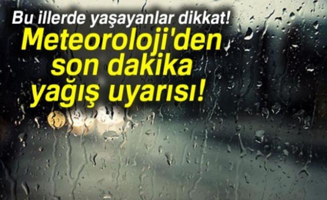 METEOROLEJİ UYARDI