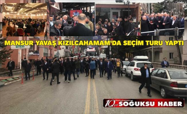 MANSUR YAVAŞ,KIZILCAHAMAM'da PROGRAMLARA KATILDI