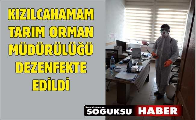 İLÇE TARIM ORMAN MÜDÜRLÜĞÜ DEZENFEKTE EDİLDİ.