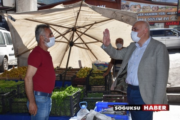 BAŞKAN ACAR'DAN PAZAR ZİYARETİ