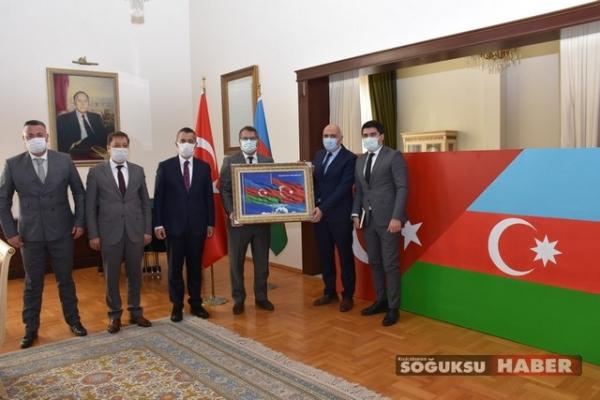 AZERBAYCAN  BÜYÜKELÇİLİĞİNE ZİYARET