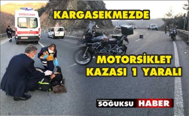 MOTOR SÜRÜCÜSÜ KAZA YAPTI