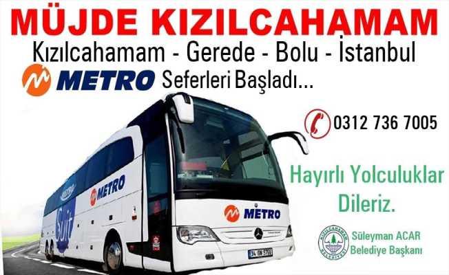 İSTANBUL KIZILCAHAMAM SEFERLERİ BAŞLADI