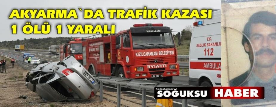AKYARMADA TRAFİK KAZASI 1 ÖLÜ 1 YARALI
