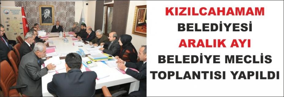 ARALIK AYI BELEDİYE MECLİS TOPLANTISI YAPILDI