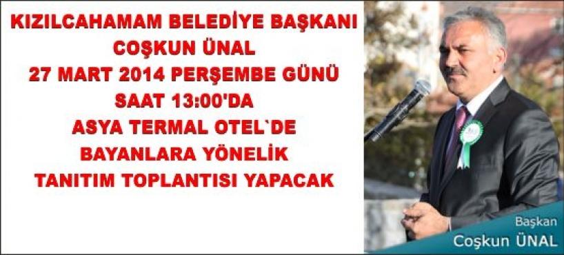BAŞKAN'DAN BAYANLARA BİLGİLENDİRME TOPLANTISI