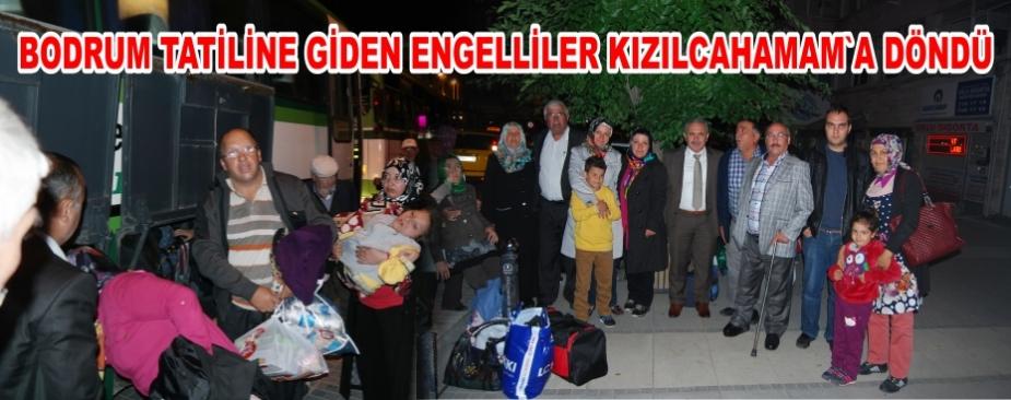 ENGELLİLER TATİLDEN DÖNDÜ