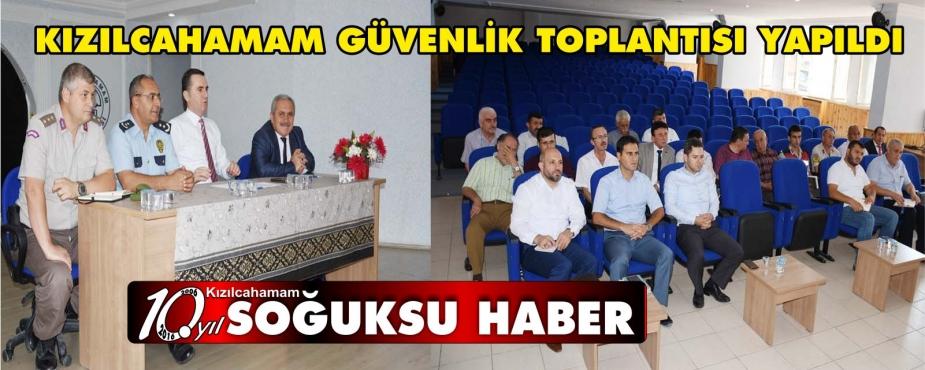 İLÇE GÜVENLİK TOPLANTISI GERÇEKLEŞTİRİLDİ