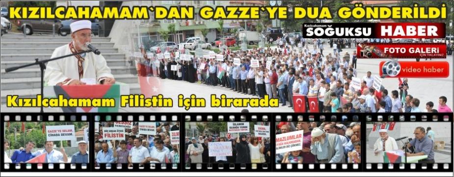 KATİL İSRAİLE KIZILCAHAMAM'DAN PROTESTO