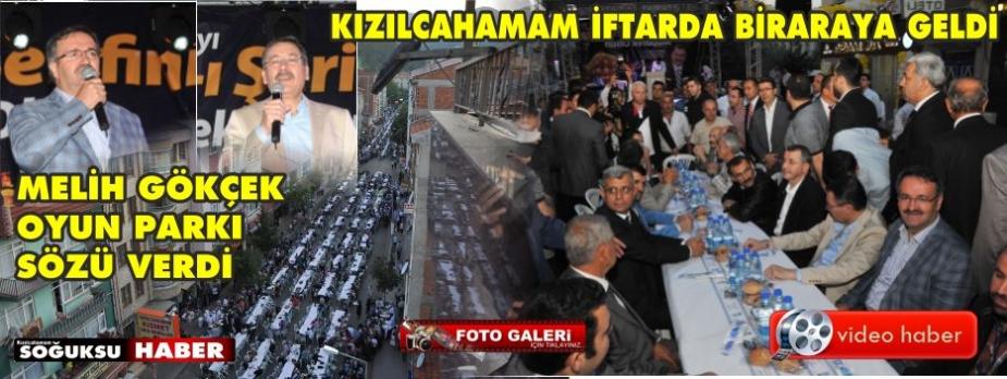 KIZILCAHAMAM'DA HALK İFTARI YAPILDI