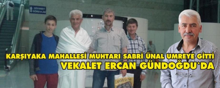 MAHALLE MUHTARI UMREYE GİTTİ.