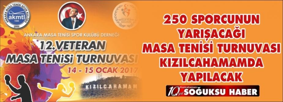 MASA TENİSİ TURNUVASINA 250 SPORCU KATILACAK