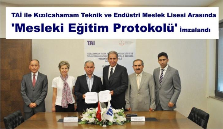TAİ İLE KATEM ARASINDA 'MESLEKİ EĞİTİM PROTOKOLÜ' İMZALANDI