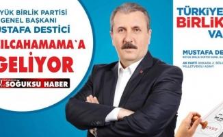 MUSTAFA DESTİCİ KIZILCAHAMAM'A GELİYOR