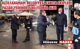 PAZAR YERİNDE TEDBİRLER ALINDI