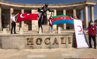 GENÇ KIZILAY AZERBAYCAN'A DESTEK MESAJI
