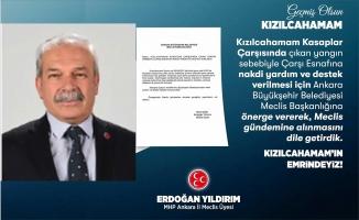 MHP MECLİS ÜYESİNDEN YARDIM ÖNERGESİ