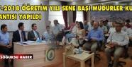 2017-2018 ÖĞRETİM YILI SENE BAŞI MÜDÜRLER...