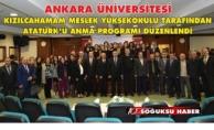 ATATÜRK'Ü ANMA PROGRAMI DÜZENLENDİ