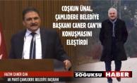 BAŞKAN ÜNAL'DAN ÇAMLIDERE BELEDİYE BAŞKANINA CEVAP...