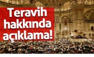 DİYANET'TEN FLAŞ TERAVİH NAMAZI KARARI!