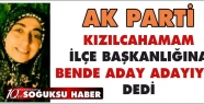 AK PARTİ İLÇE BAŞKANLIĞINDA BENDE VARIM...