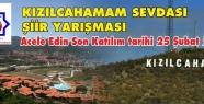 """""""KIZILCAHAMAM SEVDASI"""" ŞİİR YARIŞMASI"""