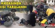 KIZILCAHAMAM'DA ATV KULLANAN BİR KİŞİ...