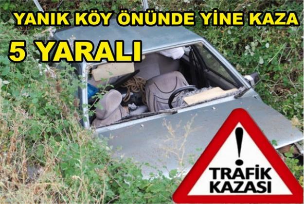 TRAFİK KAZASI 5 YARALI