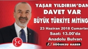 YAŞAR YILDIRIM'DAN DAVET